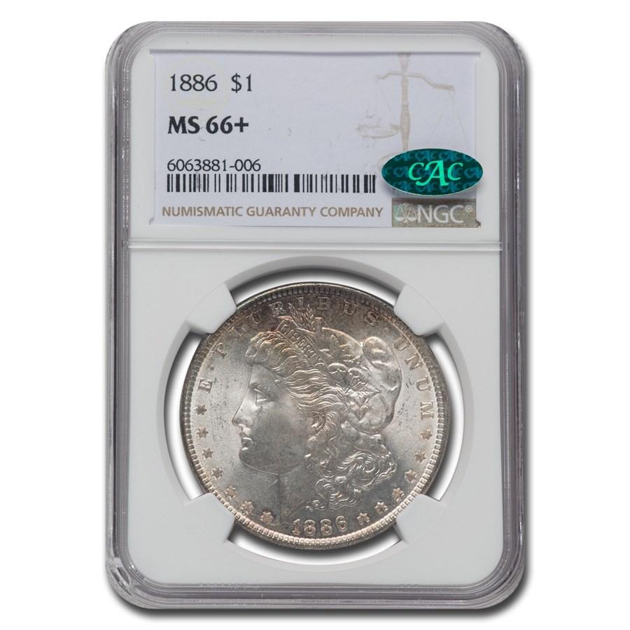 1886 Morgan Dollar MS-66+ NGC (CAC)