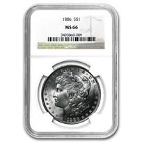 1886 Morgan Dollar MS-66 NGC