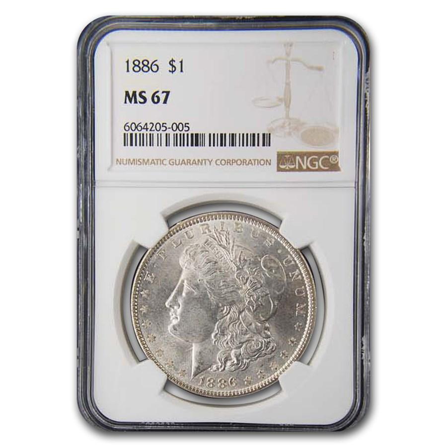 1886 Morgan Dollar MS-67 NGC