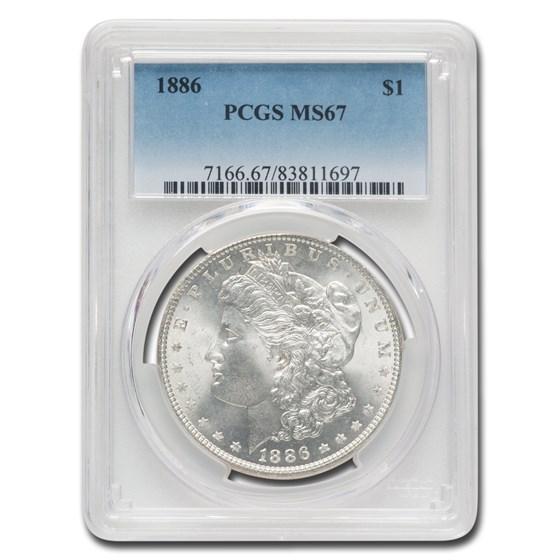 1886 Morgan Dollar MS-67 PCGS