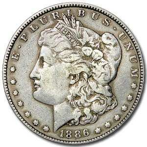 1886 Morgan Dollar VG/VF