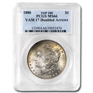 1886 MS-66 PCGS (VAM-17, Doubled Arrows, Top-100)