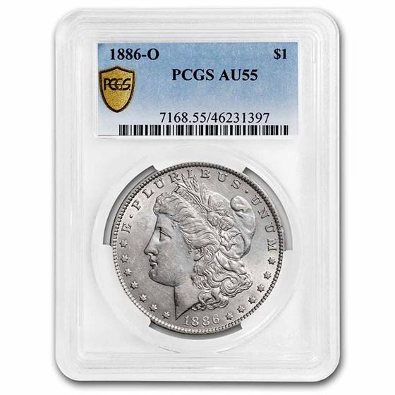 1886-O Morgan Dollar AU-55 PCGS