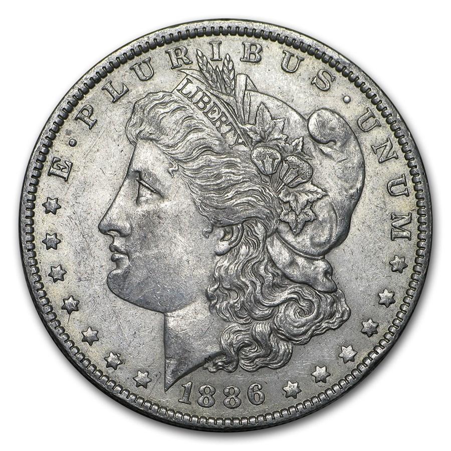 1886-O Morgan Dollar AU-55