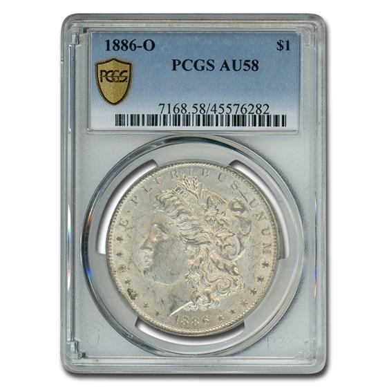 1886-O Morgan Dollar AU-58 PCGS