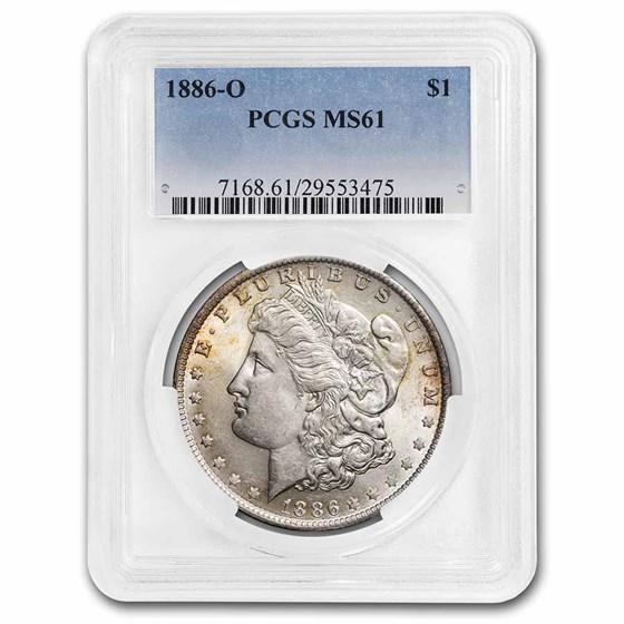 1886-O Morgan Dollar MS-61 PCGS