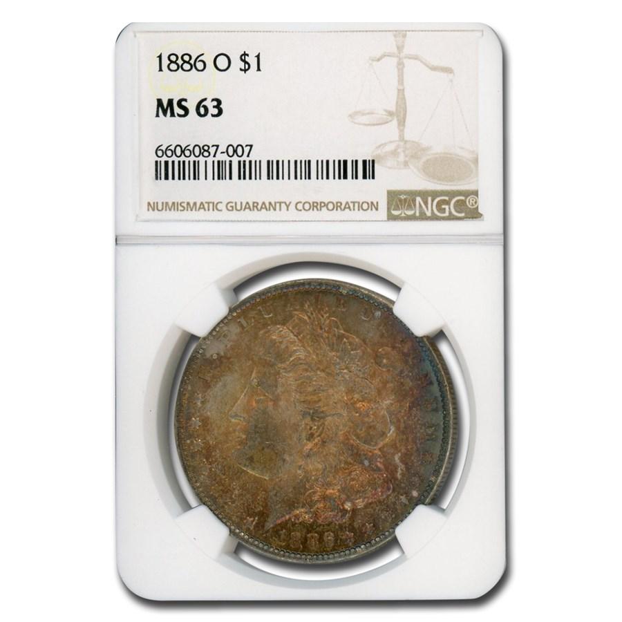 1886-O Morgan Dollar MS-63 NGC