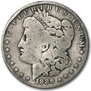 1886-O Morgan Dollar VG Details (45 Degree Rotated Rev)