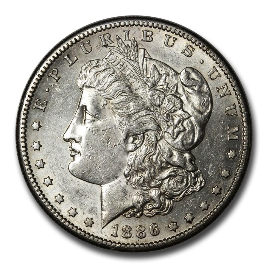 1886-S Morgan Dollar AU-58