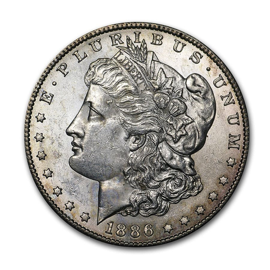 1886-S Morgan Dollar BU Details (Cleaned)