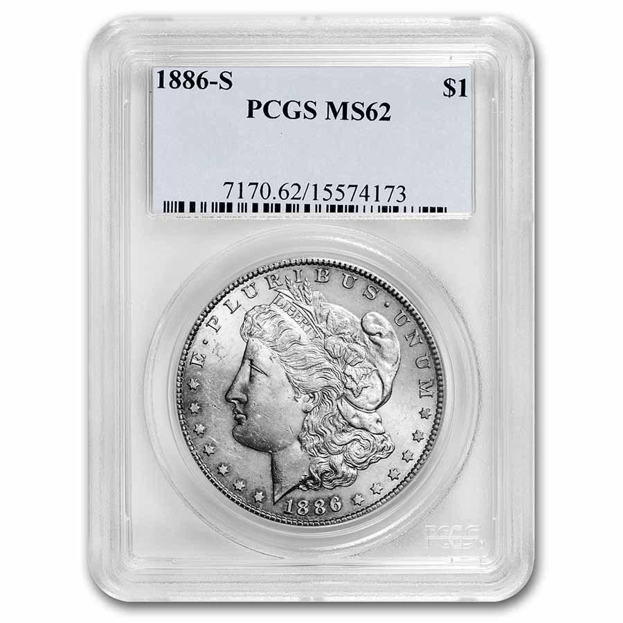 1886-S Morgan Dollar MS-62 PCGS