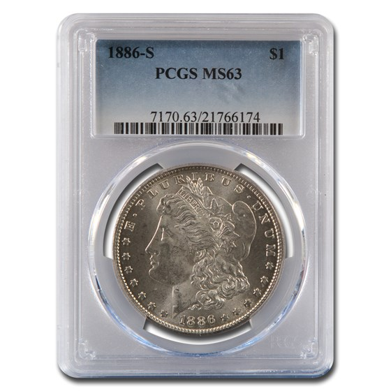 1886-S Morgan Dollar MS-63 PCGS