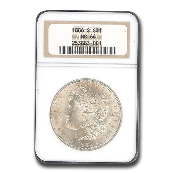 1886-S Morgan Dollar MS-64 NGC