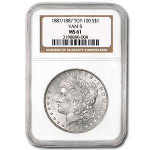 1887/1887 MS-61 NGC (VAM-5, Doubled Date, Top-100)