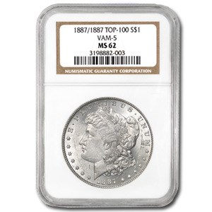 1887/1887 MS-62 NGC (VAM-5, Doubled Date, Top-100)