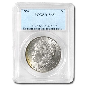 1887/1887 MS-63 PCGS (VAM-5, Doubled Date, Top-100)