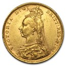1887-1893-M Australia Gold Sovereign Victoria Jubilee AU