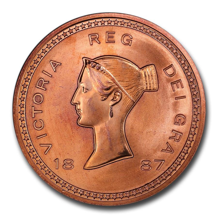 """1887"" (2008) Great Britain Copper Fantasy Crown PR-67 PCGS (Red)"