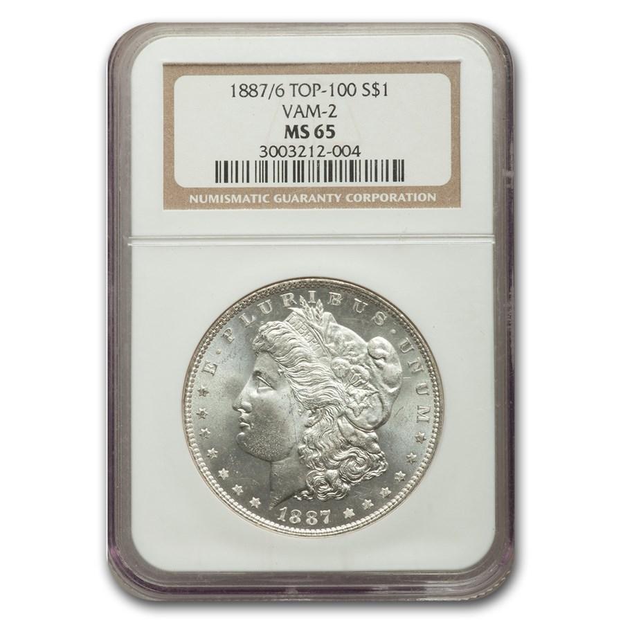 1887/6 Morgan Dollar MS-65 NGC (VAM-2)
