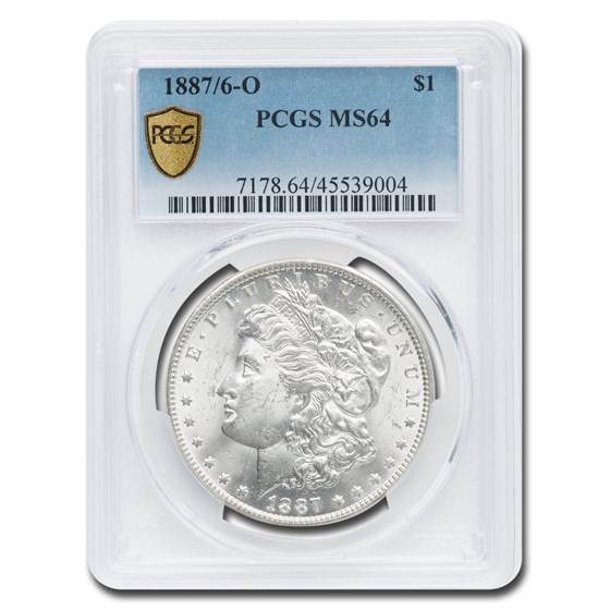 1887/6-O Morgan Dollar MS-64 PCGS