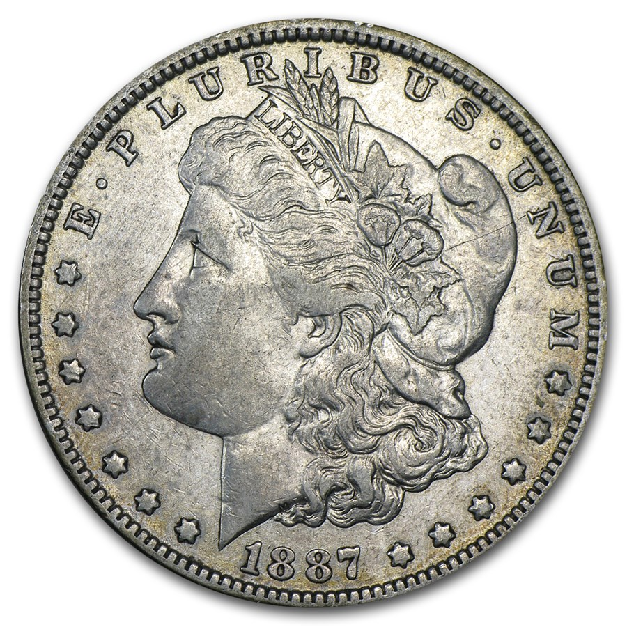 1887/6-O Morgan Dollar XF (VAM-3, Overdate, Top-100)