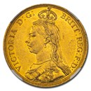 1887 Great Britain Gold 2 Pounds Victoria MS-60 NGC