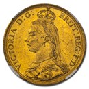 1887 Great Britain Gold 2 Pounds Victoria MS-62 NGC