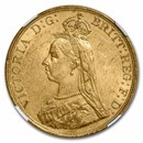 1887 Great Britain Gold 5 Pounds MS-60 NGC