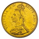 1887 Great Britain Gold 5 Pounds MS-60 PCGS