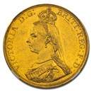 1887 Great Britain Gold 5 Pounds MS-60 PL NGC