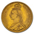 1887 Great Britain Gold Two Pounds Victoria MS-64 NGC