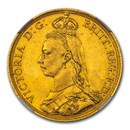 1887 Great Britain Gold Two Pounds Victoria MS-65 NGC