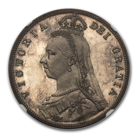 1887 Great Britain Silver Half Crown Victoria PF-65 NGC