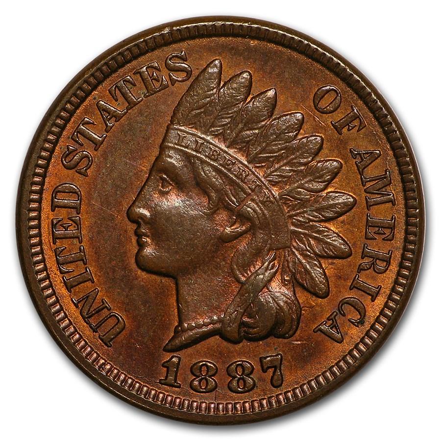 1887 Indian Head Cent AU