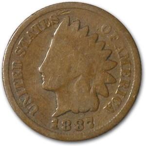 1887 Indian Head Cent Good+