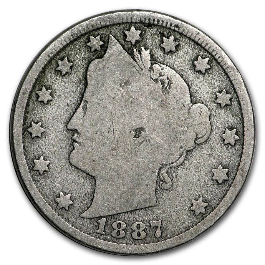 1887 Liberty Head V Nickel Good
