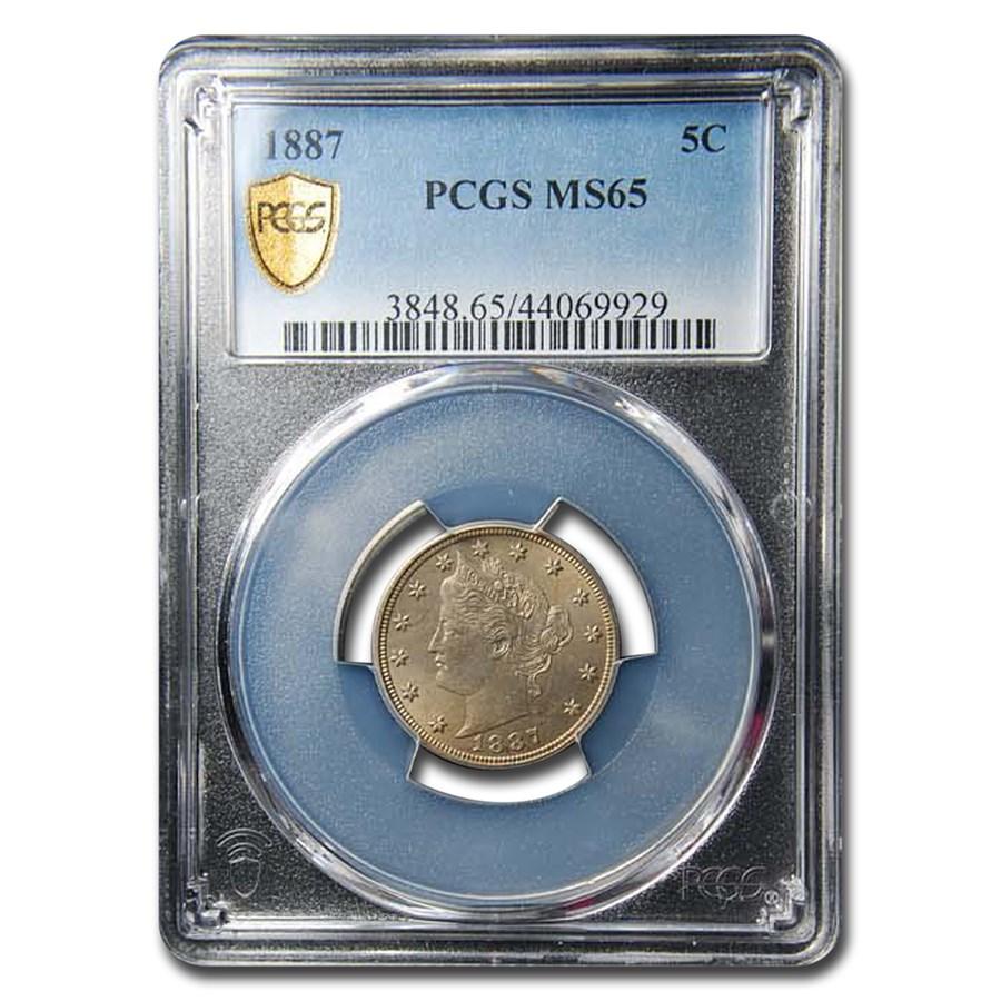 1887 Liberty Head V Nickel MS-65 PCGS
