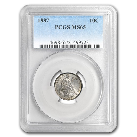 1887 Liberty Seated Dime MS-65 PCGS