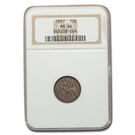 1887 Liberty Seated Dime MS-66 NGC
