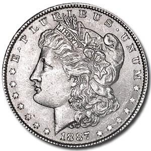 1887 Morgan Dollar AU