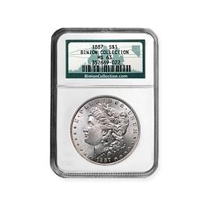 1887 Morgan Dollar MS-63 NGC (Binion Collection)