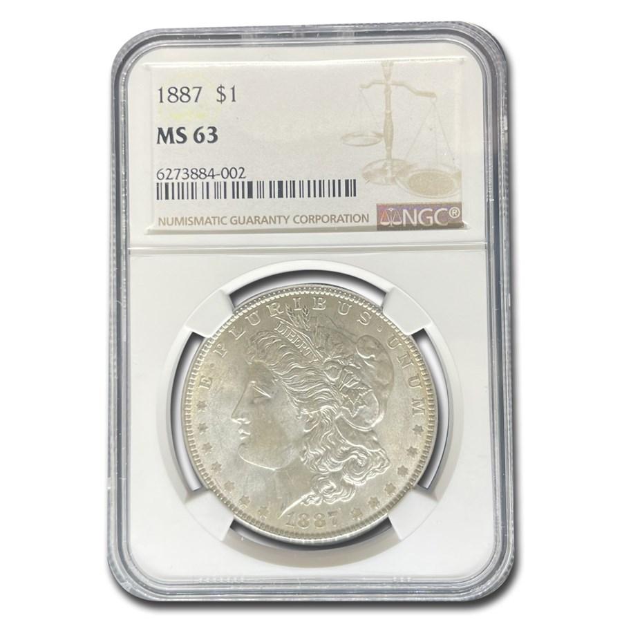 1887 Morgan Dollar MS-63 NGC