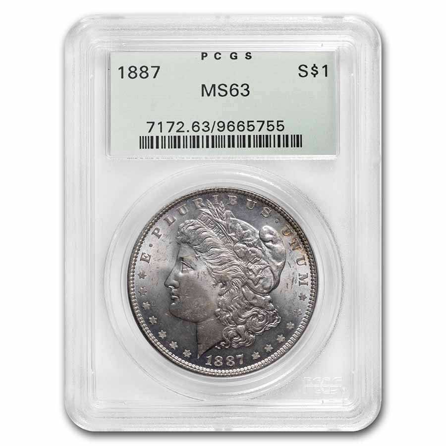 1887 Morgan Dollar MS-63 PCGS (Old Green Label)