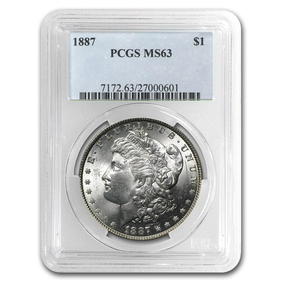 1887 Morgan Dollar MS-63 PCGS