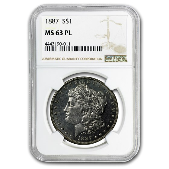 1887 Morgan Dollar MS-63 PL NGC