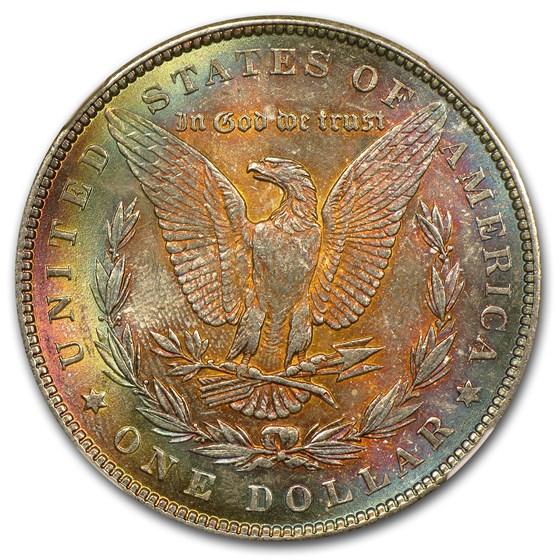 1887 Morgan Dollar MS-63* Star NGC (Rev Toning)