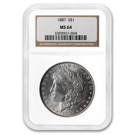 1887 Morgan Dollar MS-64 NGC