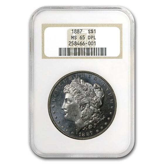 1887 Morgan Dollar MS-65 DPL NGC