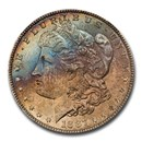 1887 Morgan Dollar MS-65 NGC (CAC, Blue & Red Toning)