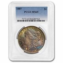 1887 Morgan Dollar MS-65 PCGS (Beautiful Toning)